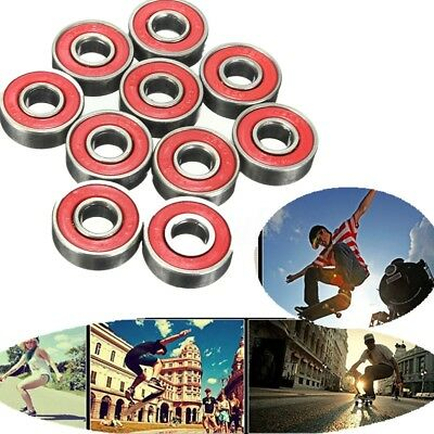 New 10 X Skate board Longboard Scooter Roller Bearings 608 RS 2RS  ABEC-5 7 9