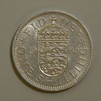 1960 Great Britain One Shilling Coin