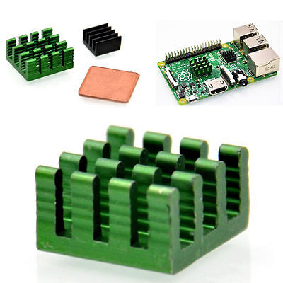 For Raspberry Pi 3/2 model B/B+ 3 PCS Aluminum Heat Sink Adhesive Cooling Kit