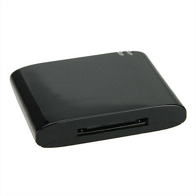 Wireless Bluetooth Music Receiver Adapter to 30-Pin Speaker for iPod iPhone 4S 4