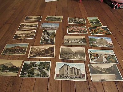 real picture photo postcard lot with linen postcards and postmarks