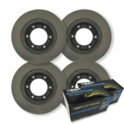 FULL SET RDA DISC BRAKE ROTORS + H/D PADS for Toyota Prado 120 Series 2003-2009