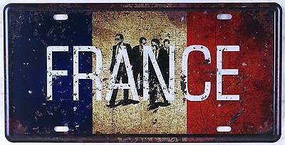 Retro Metal Tin Signs France CAR LICENSE PLATE Garage Wall Art Plaque Poster New