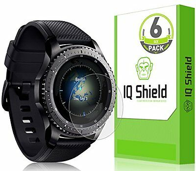 Gear S3 Frontier HD Clear Screen Protector 6 Full Coverage Skin Anti-Bubble Film