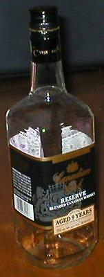 Empty Canadian Club Reserve Blended Canadian Whisky Bottle - Aged 9 yrs - 750 ml
