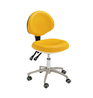 Dental PU Leather Mobile Chair Doctor's Stool With Backrest HS-5 Adjustable New