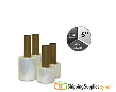 """5"""" x 1000 ft x 80 Gauge Stretch Wrap Pre-Attached Handles (1 Roll) - OSTK"""