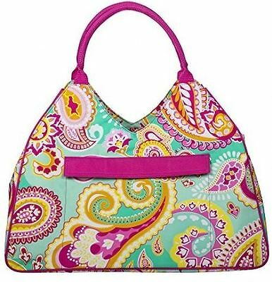 Water Resistant Beach Bag With Inside Lining and Top Handle - 22' Long (Vibrant