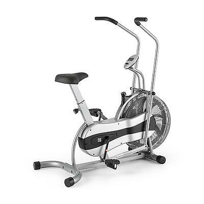 Dual Training Cardio Bike Fitness Machine Gym Home Arm Leg Cross Training Silver