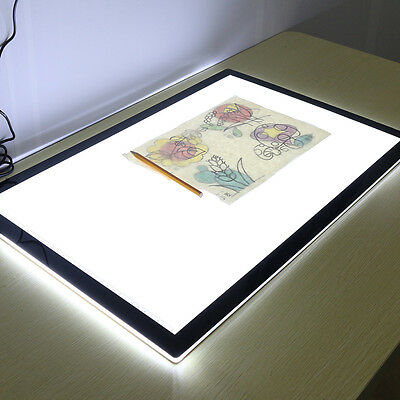 A2 Light-Box Pattern Tracing Pad LED Lightbox Art Tattoo Design Stencil Drawing