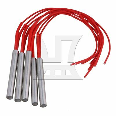 9.5x80mm AC110V-300W Electric Heating Tube Element Cartridge Heater Pack of 5