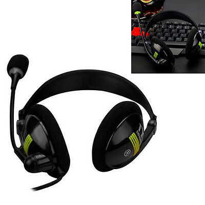 3.5MM Stereo Game Music Headphone Earphone Earset with Microphone for PC Laptop