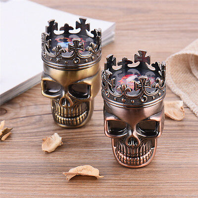 New Skull Shape Grinding Crusher Herbal Spice Smok Grinder Device Plastic Shell