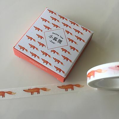 Washi Tape Thin Skinny Twilight Boxed Fox Foxes 8Mm X 8Mt Plan Craft