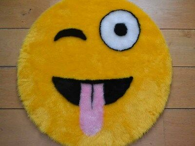 Cool Emoji Bedroom Rug Teenagers Boys Girls Unisex Kids Childrens Playroom Rugs