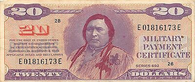 USA / MPC  $20  ND. 1970  Series 692  Position  28  circulated Banknote