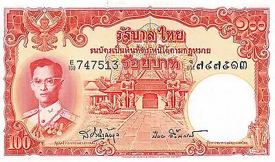 Thailand 100  Baht  ND1955  P 78d  Series E/109 Sign. # 41 Uncirculated Banknote