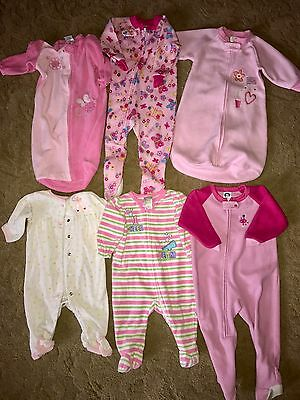 Used Baby Clothes Lot 3-18 Months Night Time Nightie One Piece Outfit