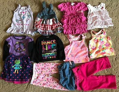 Used Baby Clothes Lot 18 Months Dress Shirt Pants Spring One Piece Outfit