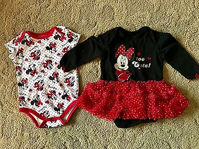 Used Baby 3-9 Month Mini Mouse To Cute Dress Onesies Match Clothes Skirt