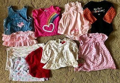 Used Baby Clothes Lot 6-9 Months Dress Shirt Pants Spring One Piece Outfit