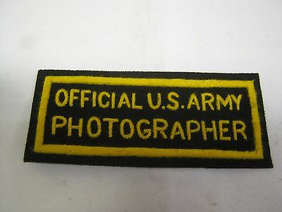 c0009 WW 2 Official US ARMY PHOTOGRAPHER Patch R10A