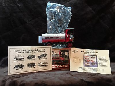 ERTL Collectibles 1910 Mack Texaco Tanker Diecast Metal Locking Coin Bank w/key
