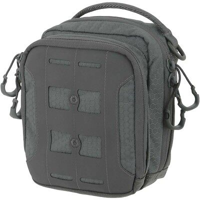Maxpedition AGR Accordion Utility Pouch Hex Ripstop Army Case MOLLE Pocket Grey