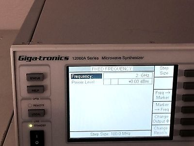 Gigatronics 12528A 8GHz Synthesized Microwave Signal / Sweep Generator 12000A