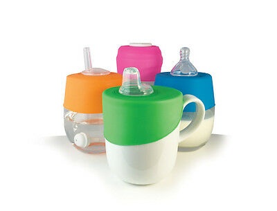 Cherub Baby CLIP 'N SIP Universal Silicone Lid Turns Cup to Straw Bottle Sippy