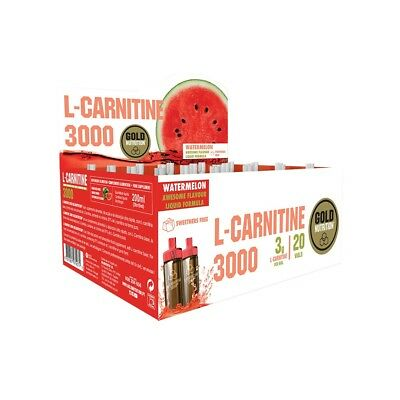 L-carnitina 3000 mg 20 viales - GoldNutrition - Carnitines