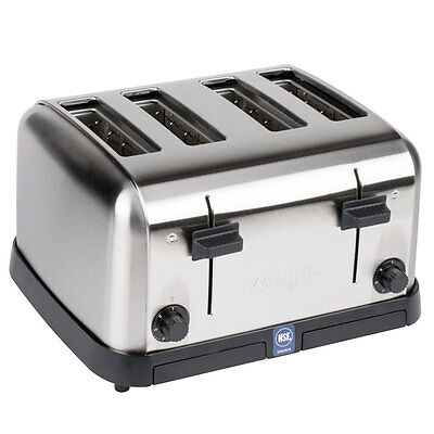 New Waring Commercial Pop-Up Toaster Bagel Bread Restaurant Equipment 4 Slot