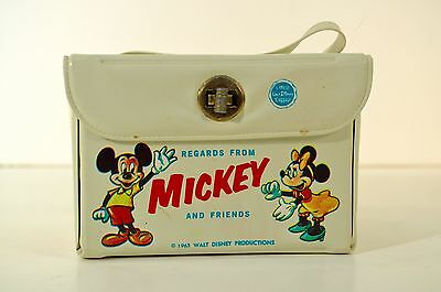 1963 Mickey Mouse Walt Disney Prod. Luggage Purse Bag Great Graphics