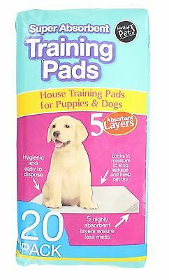 World Of Pets Pack Of 20 Super Absorbent Puppy Training Pads 60 x 45cm