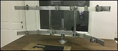 HumanScale PFKX MOUNT CROSSBARS MEDICAL 8 MONITOR DISPLAY SECURITY FREE SHIPPING