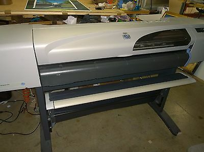 """HP Designjet 500 42"""" wide format printer on stand. nice condition."""