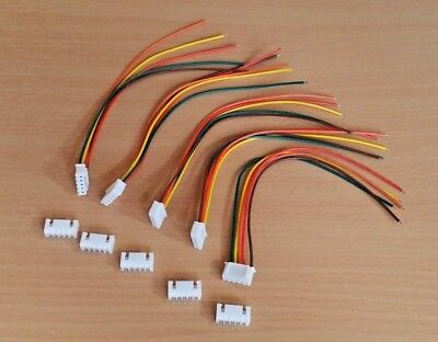 "5 Pairs JST XH 2.54mm 0.1"" - 5 Pin PCB Plug and Socket - 150mm Wire - For RC Car"