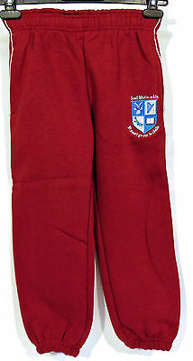 Scoil Mhoin-a-Lin PE Tracksuit Bottoms 4-5 Yrs Light Wine Trouser SW New Red