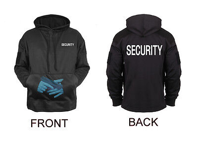 Black SECURITY Guard Officer Hidden Handgun Concealed Carry Hoodie Sweatshirt