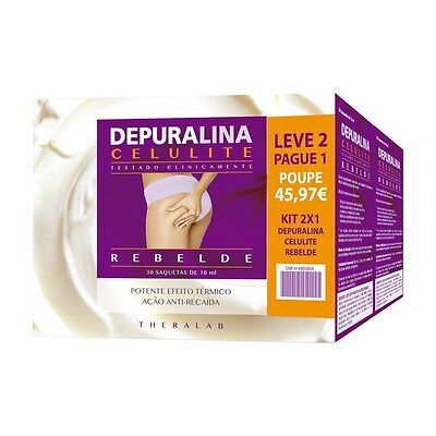 Depuralina Celulite Rebelde KIT Leve 2 Pague 1 - TheraLab - Tonificante