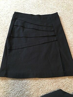 Lot Of 3 Black Skirts Knee Length Cato Rue21 Sz S 6 And 8