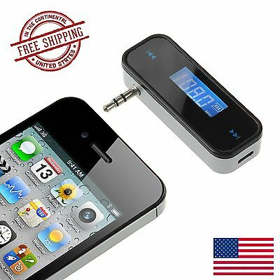 3.5mm FM Transmitter In-car Wireless Music Radio Digital Adapter for iPhone LG