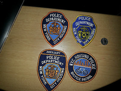 Lot Of 5 New York City Ny Housing Police Ems Patches