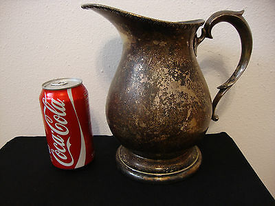 Vintage Poole Silver Company Taunton, Mass. EPNS Water Pitcher 2418