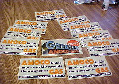 Assorted Amoco-Gas  Adverising Cards (11) Excellent Condition!