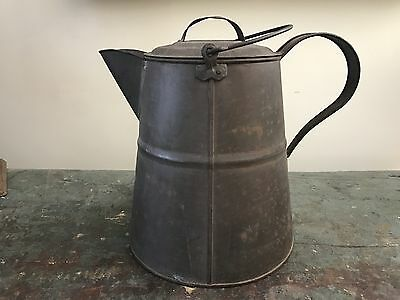 Large Tin Coffee Pot - Copper Bottom