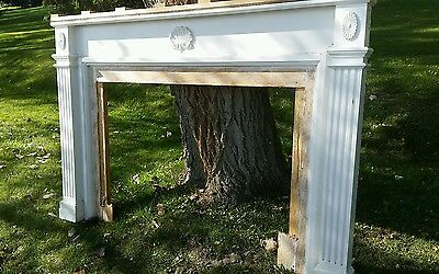 """~Antique Carved Fireplace Mantel 80"""" W ..as Is"""
