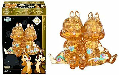 Puzzle_Toy Disney Crystal Gallery Chip & Dale Brown 3D Puzzle 46 Piece F/S SB