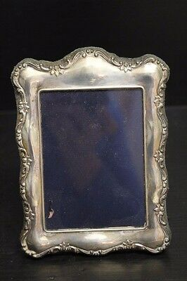 "Vintage Rectangular Hallmarked Sterling Silver Picture Frame, 5 1/2"" Tall"