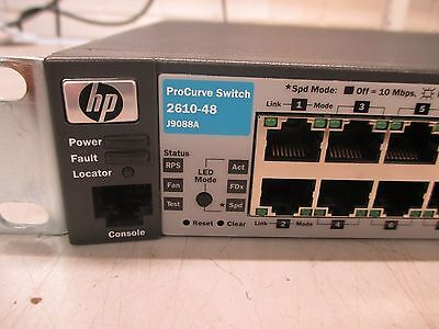 HP ProCurve 2610-48 Switch (48-Port Fast Ethernet Switch) with Brackets